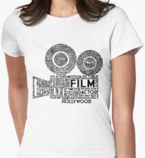 Film Kamera Typografie - Schwarz Tailliertes T-Shirt