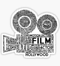 Film Camera Typography - Black Sticker