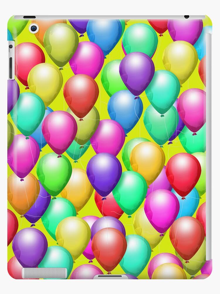 Peridot Background, Balloons iPad Case by CheriesArt