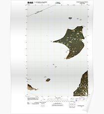 USGS Topo Map Washington State WA Waldron Island 20110429 TM Poster