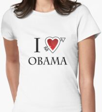 i love Barack Obama heart  Women's Fitted T-Shirt