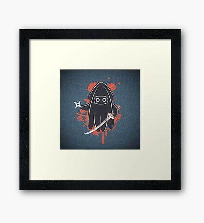 Ninja Ink Framed Print