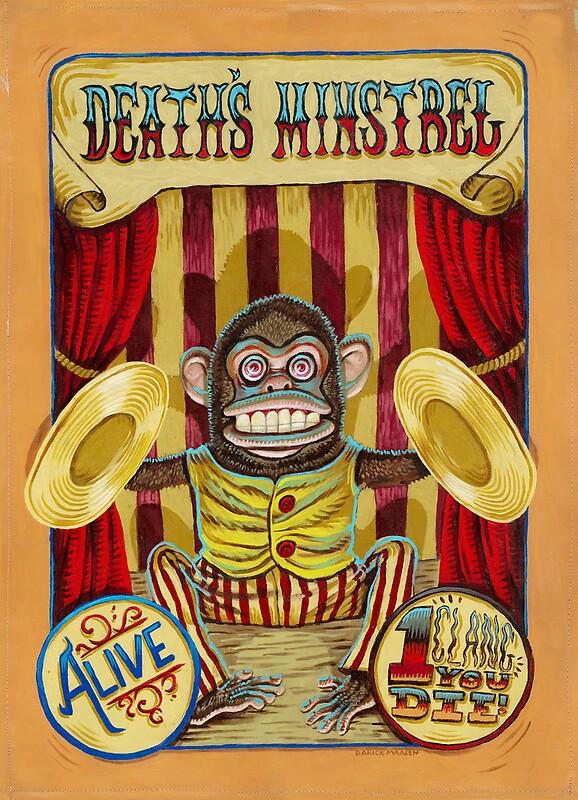 u0026quot death u0026 39 s minstrel  jolly chimp sideshow banner u0026quot  by