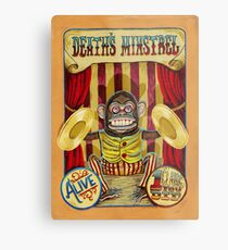 Death's Minstrel: Jolly Chimp Sideshow Banner Metal Print