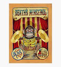 Death's Minstrel: Jolly Chimp Sideshow Banner Photographic Print
