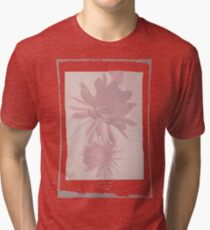 12th Doctor Negative Flower T-Shirt Tri-blend T-Shirt