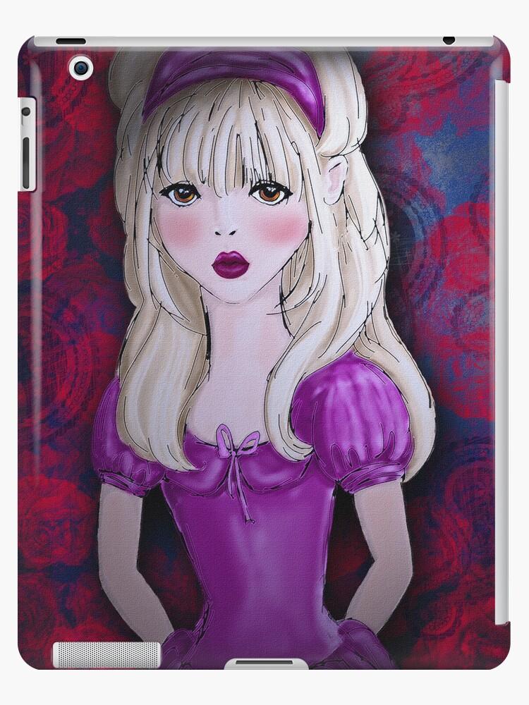 Alice in Roses, iPad Case by Cherie Balowski