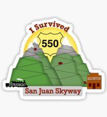 I Survived Hwy 550 Durango to Silverton Sticker