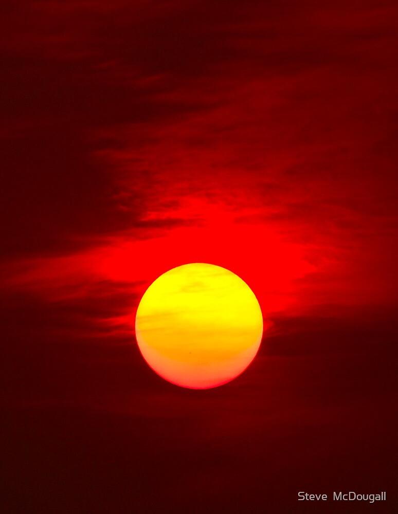 Red Sunset by Steve  McDougall
