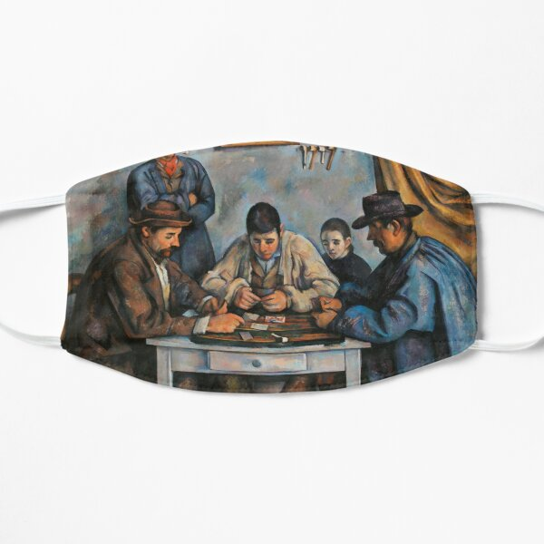 The Card Players by Paul Cezanne Impressionist Painting Flat Mask