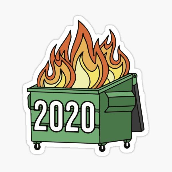 2020 Dumpster Fire funny Sticker