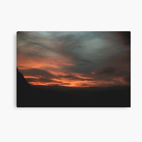 Sun Setting | Nature and Landscape Photography Canvas Print