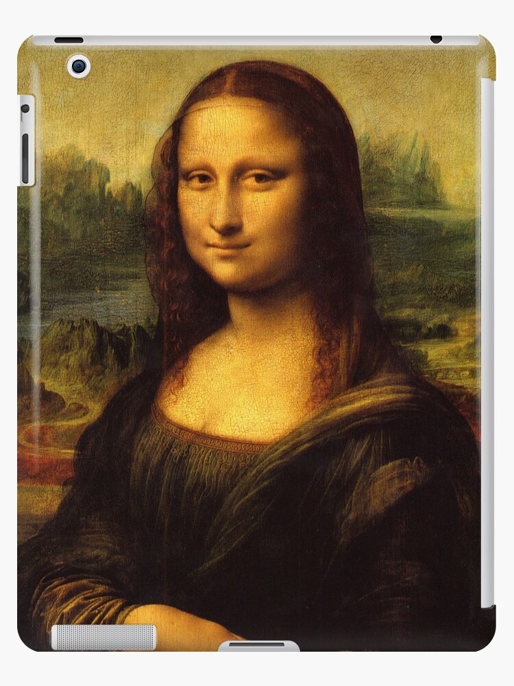 Mona Lisa, Leonardo da Vinci, iPad Case by CheriesArt