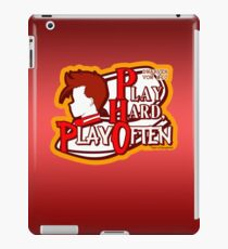 Dwarven Vow #10 - Play hard, play often! iPad Case/Skin