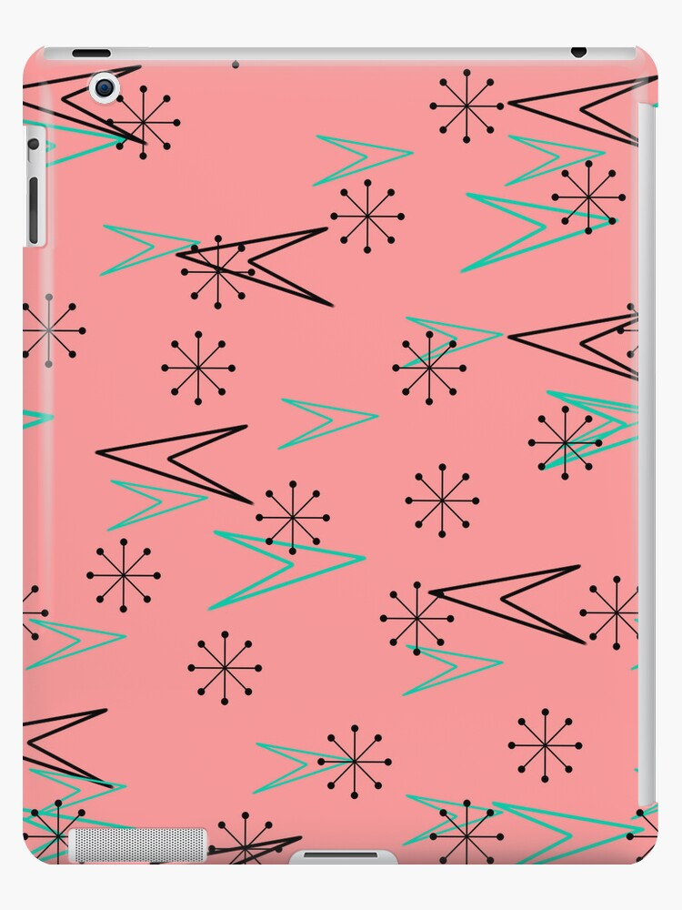 Vintage Pink, Atomic Retro Arrows, iPad Case by CheriesArt
