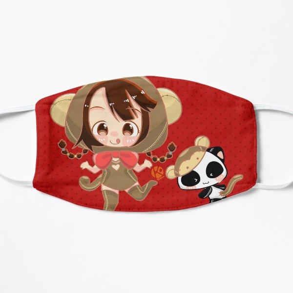 Monkey Girl and Monkey Panda Mask