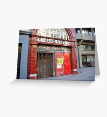 Strand Station, London Greeting Card