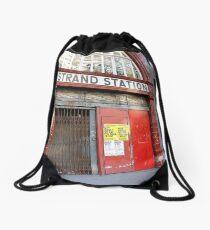 Strand Station, London Drawstring Bag
