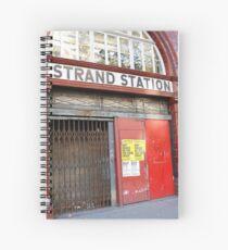 Strand Station, London Spiral Notebook