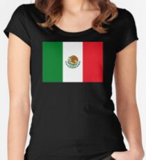 Mexican Flag Women's Fitted Scoop T-Shirt