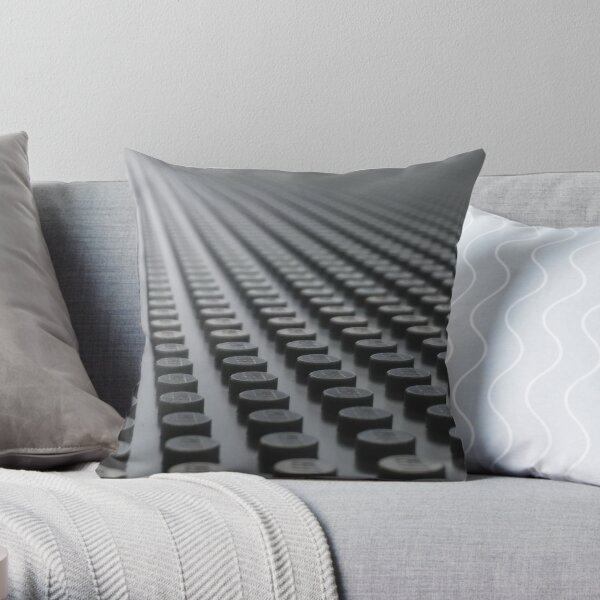 Rows of stones Throw Pillow