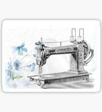 Sewing machine poster Sticker