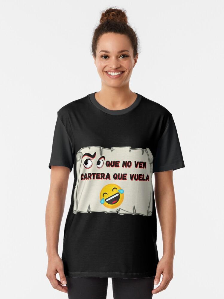 Vista alternativa de Camiseta gráfica Ojos que no ven Cartera que vuela