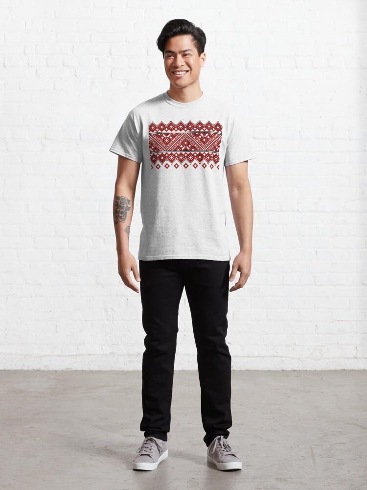Alternate view of #Ukrainian #Embroidery, #CrossStitch, #Pattern Classic T-Shirt