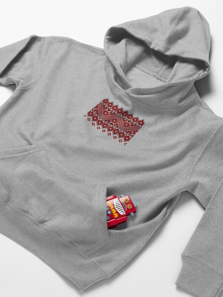 Alternate view of #Ukrainian #Embroidery, #CrossStitch, #Pattern Kids Pullover Hoodie