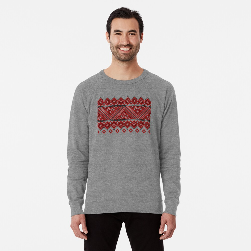 #Ukrainian #Embroidery, #CrossStitch, #Pattern Lightweight Sweatshirt
