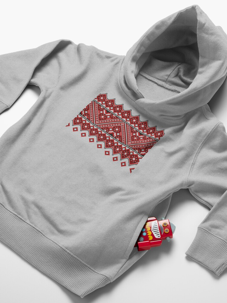 Alternate view of #Ukrainian #Embroidery, #CrossStitch, #Pattern Toddler Pullover Hoodie