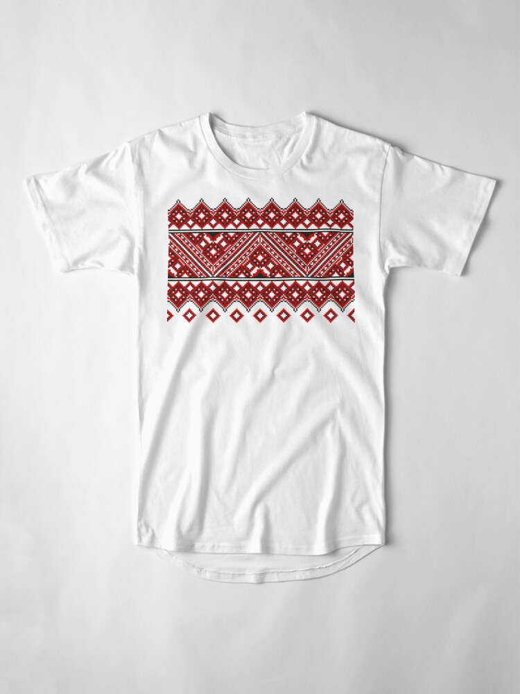 Alternate view of #Ukrainian #Embroidery, #CrossStitch, #Pattern Long T-Shirt