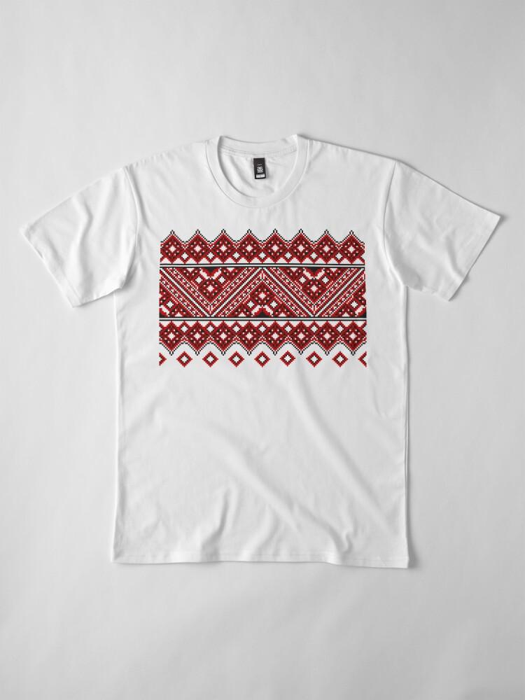 Alternate view of #Ukrainian #Embroidery, #CrossStitch, #Pattern Premium T-Shirt