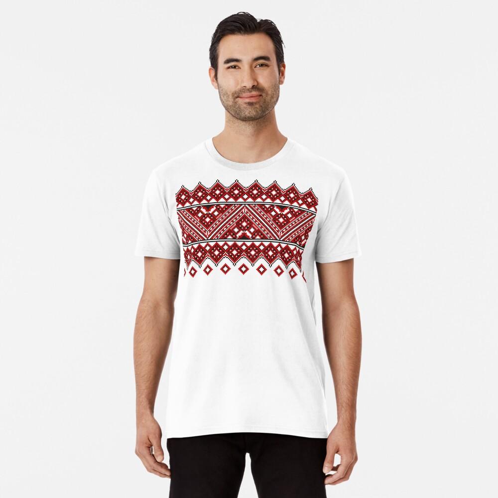 #Ukrainian #Embroidery, #CrossStitch, #Pattern Premium T-Shirt