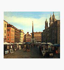 Piazza Navona in Rome Photographic Print