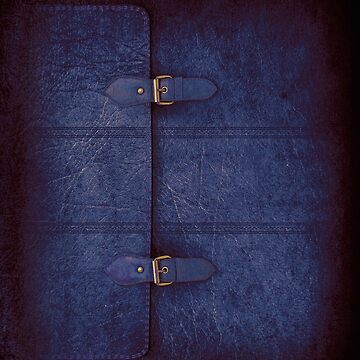 Blue Leather Satchel by abinning