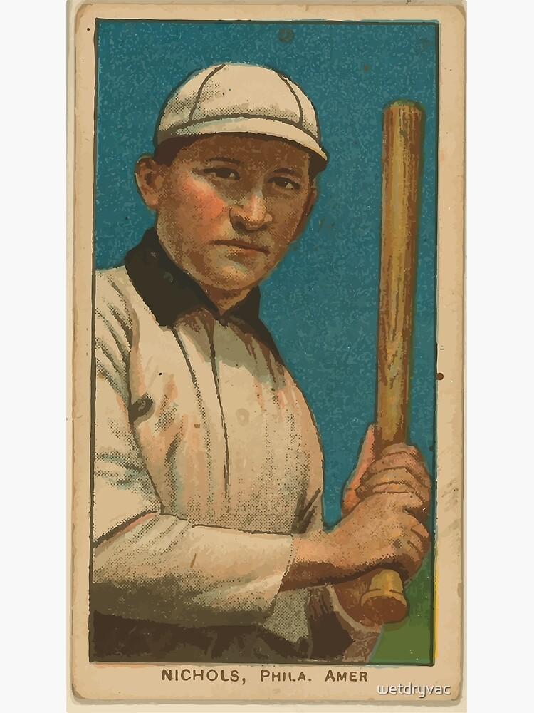 Benjamin K Edwards Collection Nicholls Philadelphia Athletics baseball card portrait by wetdryvac