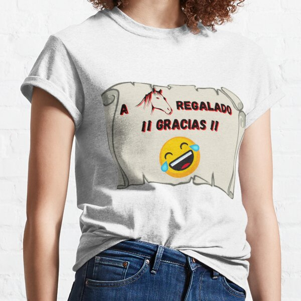 On horseback given Thanks Classic T-Shirt