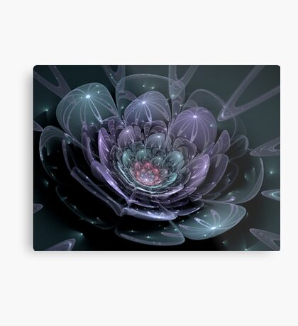 Glass Flower (available in ipad case) Metal Print