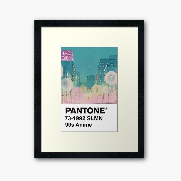 PANTONE 90s Anime (4) Framed Art Print