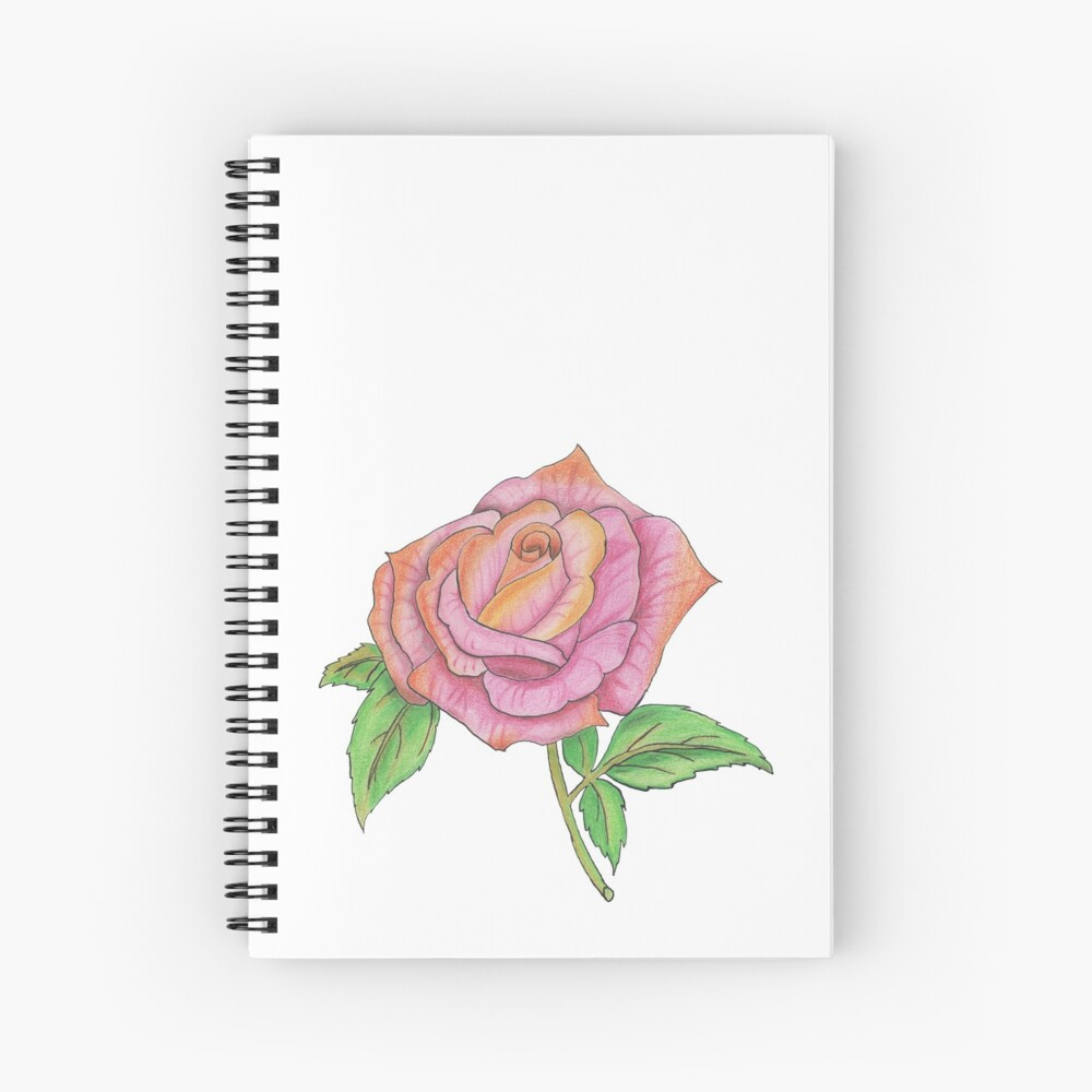 Colorful Rose Spiral Notebook