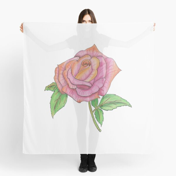 Colorful Rose Scarf