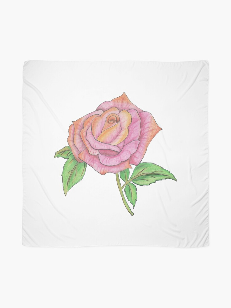 Alternate view of Colorful Rose Scarf
