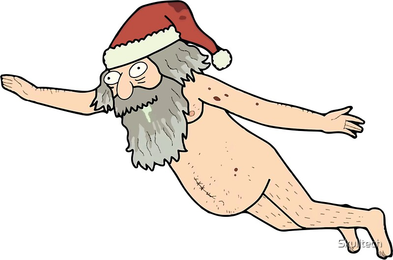santa cartoon naked