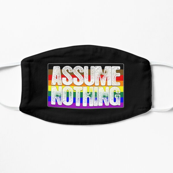 Assume Nothing Philly LGBTQ Gay Pride Flag Mask