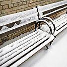 SNOW ON BENCH by Daniel Sorine