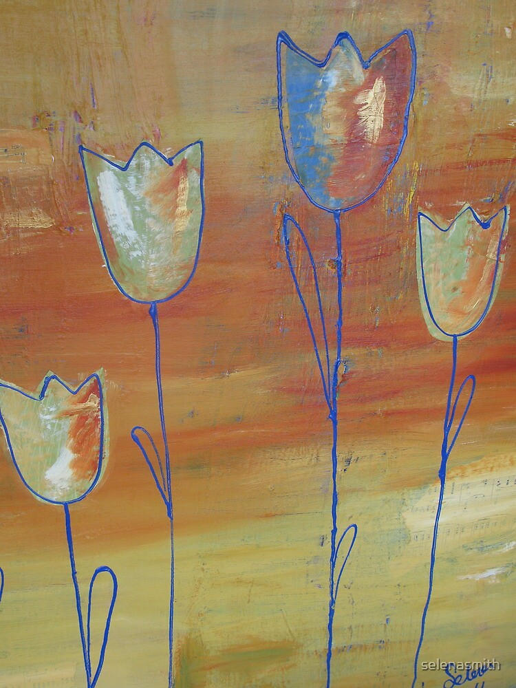 Modern Tulips by selenasmith