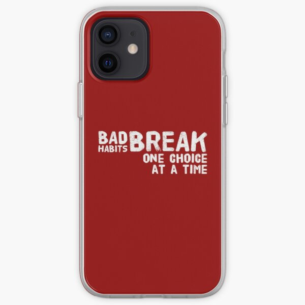 Breaking bad habits can be hard! It is much easer to break them on choice at time. iPhone Soft Case