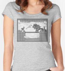 Super Mario Final Koopa Vintage Engraving Women's Fitted Scoop T-Shirt