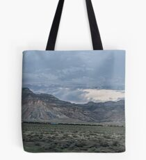 The Train in the Mesa Tote Bag